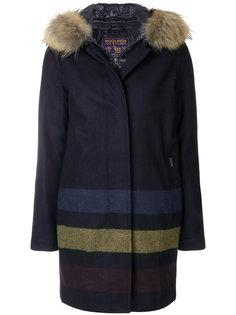 пальто с многослойным эффектом с полосками Woolrich