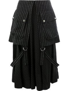 многослойная юбка в полоску  Aalto