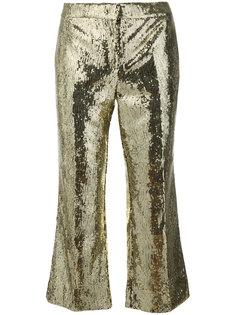 укороченные брюки с пайетками Nº21