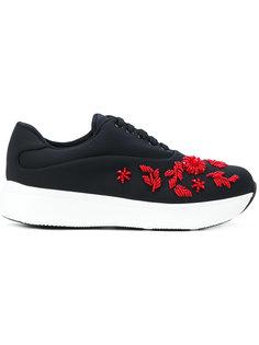 декорированные кроссовки Prada