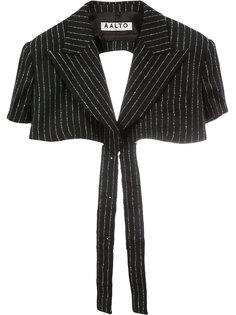 укороченный пиджак в полоску  Aalto