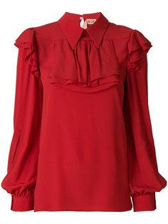 блузка с оборочным нагрудником Nº21