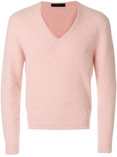 классический свитер с V-образной горловиной Prada