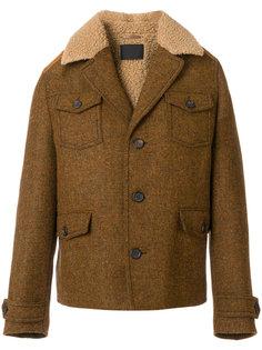 куртка с меховым воротником Prada