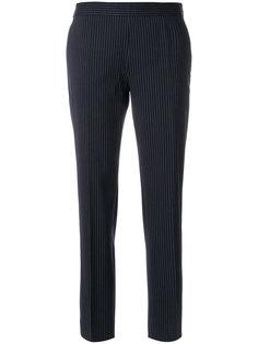 приталенные брюки в полоску Alberto Biani