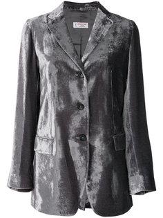 приталенный пиджак с металлическим отблеском Alberto Biani