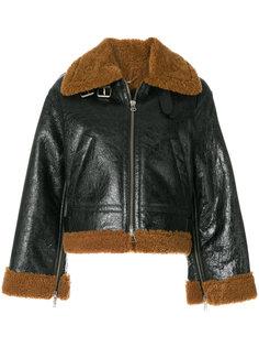 байкерская куртка с отделкой из овечьего меха Golden Goose Deluxe Brand