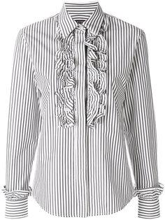 рубашка в полоску с рюшами Alexa Chung