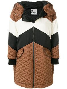 """стеганое пальто дизайна """"колор-блок"""" 8pm"""