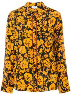 рубашка с абстрактным лиственным узором Kenzo