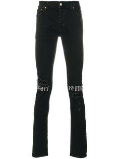 джинсы скинни с графическим принтом Htc Hollywood Trading Company