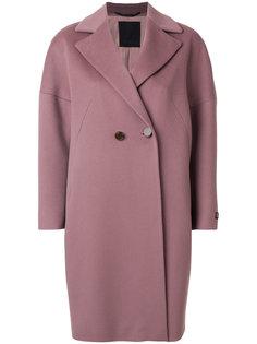 "пальто модели ""кокон"" на пуговицах Les Copains"