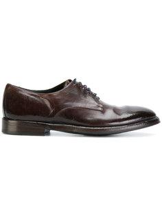 ботинки Дерби с потертой отделкой Alberto Fasciani