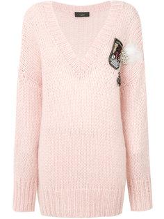 свитер с V-образным вырезом Lédition