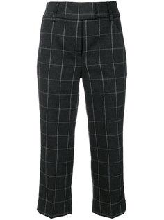 брюки с клетчатым принтом Dondup