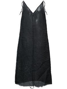 прозрачное платье с необработанными краями Yang Li