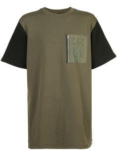 футболка с контрастными рукавами Mostly Heard Rarely Seen