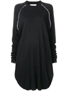платье-свитер с контрастными вставками Nelly Johansson