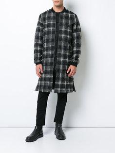 удлиненная куртка в клетку MA-1  Private Stock