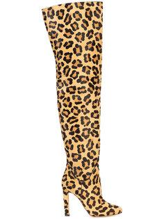сапоги с леопардовым принтом Francesco Russo