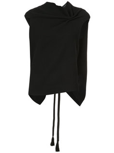 драпированная блузка с открытой спиной Roland Mouret