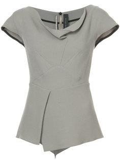 блузка с драпированной горловиной Roland Mouret