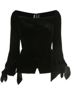 драпированная блузка с длинными рукавами Roland Mouret