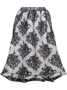 пышная юбка с орнаментом Comme Des Garçons