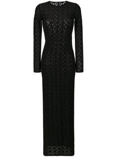 приталенное платье макси  Gareth Pugh