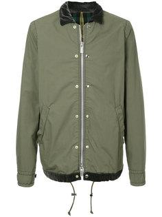 куртка-бомбер с бархатным воротником Sacai