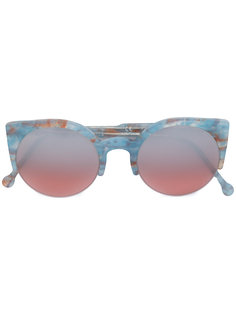 "солнцезащитные очки Lucia Onice Azzurro в оправе ""кошачий глаз"" Retrosuperfuture"