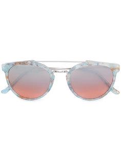 солнцезащитные очки Giaguaro Onice Azzuro с мраморным узором Retrosuperfuture
