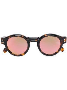 круглые солнцезащитные очки Eddie Peach Havana Retrosuperfuture