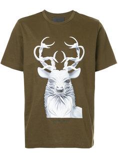 футболка с принтом оленя Juun.J
