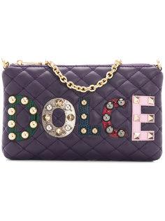 стеганый клатч с аппликацией Dolce & Gabbana