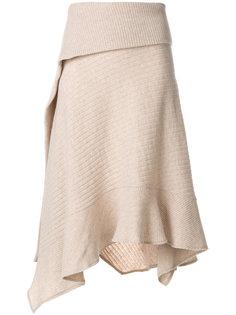 асимметричная трикотажная юбка  Paco Rabanne