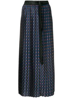плиссированная юбка с узором  Hache