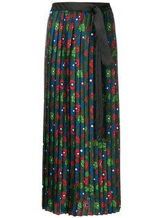 плиссированная юбка с цветочным принтом  Hache