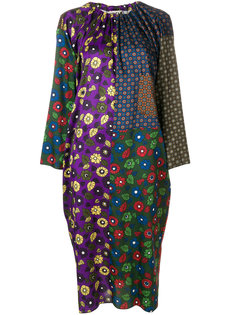 платье с контрастным узором  Hache