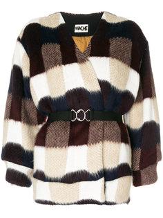 фактурная куртка с поясом  Hache