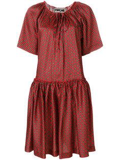 расклешенное платье с узором  Hache