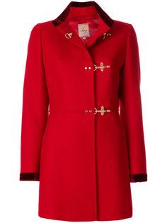 пальто с пряжкой  Fay