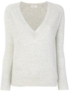 deep V-neck pullover Zanone