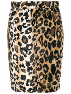 leopard pattern fitted skirt Jeremy Scott