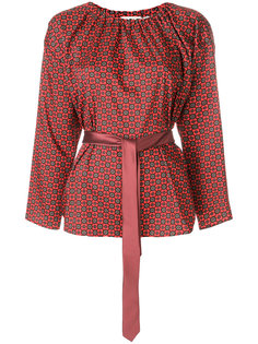 блузка с узором и поясом  Hache