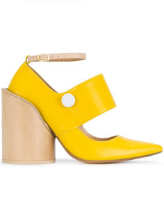 туфли-лодочки с заостренным носком на блочном каблуке Jacquemus