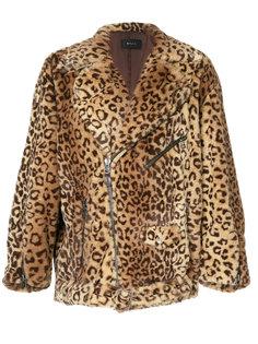 faux fur biker jacket G.V.G.V.