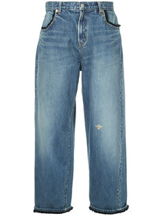 cropped wide-leg jeans Undercover