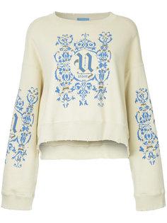 logo print distressed sweatshirt Undercover