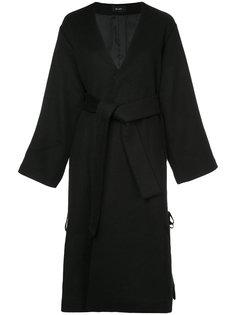 lace-up belted coat G.V.G.V.